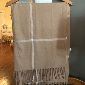 J. Crew camel plaid wrap